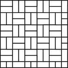 Basketweave Paving Pattern