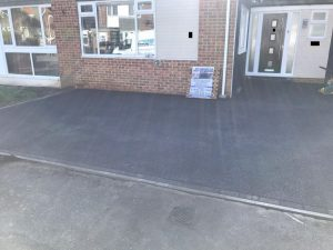 Tarmac Driveway with a New Step in Hythe, Kent
