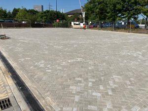 Block Paving Car Park in Dartford, Kent