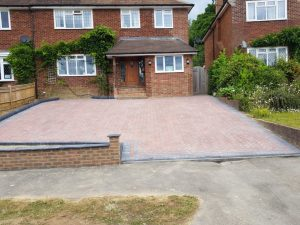 Block Paving Driveway with New Wall in Tunbridge Wells