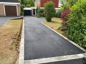 Tarmac Driveway with Brick Borders in Gravesend, Kent