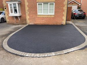Two Different Tarmac Driveways with Brick Paved Edge in Ashford, Kent