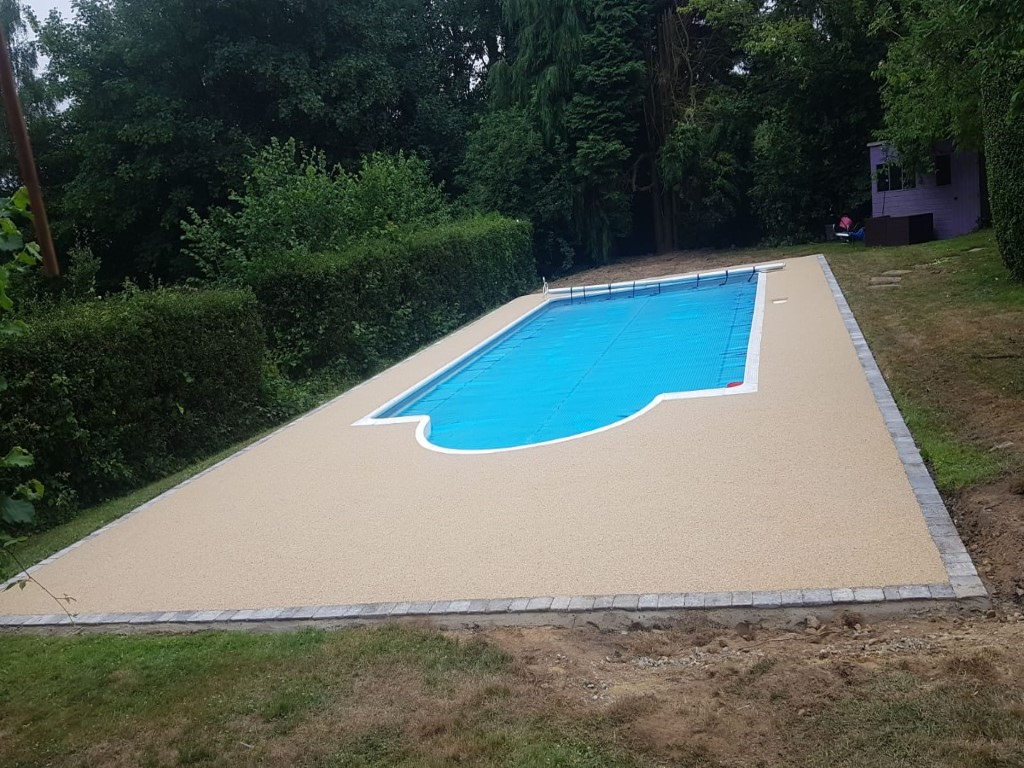 Resin Bound Pool Area in Tunbridge Wells, Kent