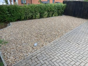 Gravel Driveway Extension and Tarmac Apron in Ashford