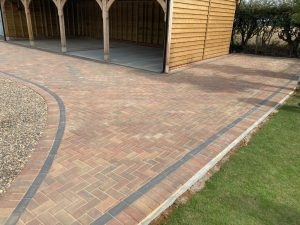 Gravel and Block Paving Driveway in Ashford, Kent