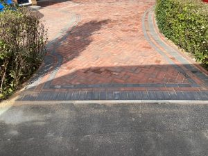 Brindle and Charcoal Block Paving Driveway in Ashford, Kent