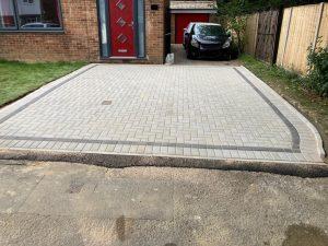 Light Grey Block Paving Driveway in Ashford, Kent