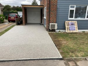Resin Driveway with Flat Top Kerbing in Hythe, Kent