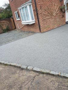 Resin Bound Driveway with a Paved Border in Ashford, Kent