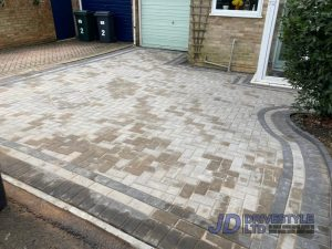 Charcoal and Grey Block Paved Driveway in Ashford