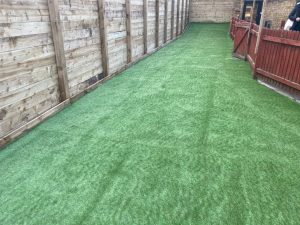 New Fence and Artificial Grass in Faversham, Kent