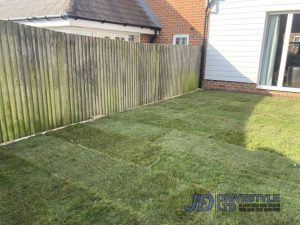 New Garden Lawn in Mersham, Kent
