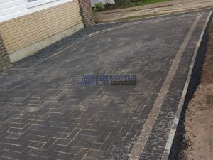 Charcoal Block Paved Driveway in Hythe, Kent