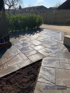 New Front Patio and Pathway in Canterbury