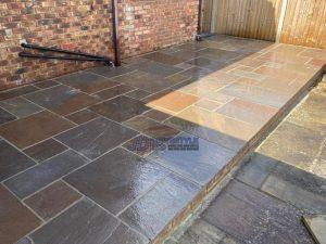 Indian Sandstone Patio in Edenbridge, Kent