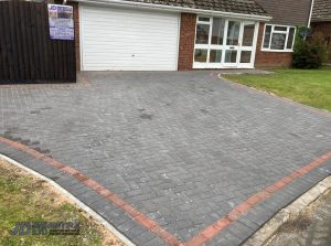 Charcoal and Brindle Block Paved Driveway in Ashford