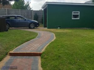 New Garage with Block Paved Pathway in Willsborough, Ashford