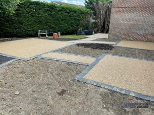 New Resin Bound Patio Areas for Westerham Place Care Home in Kent - Back