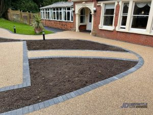 New Resin Bound Patio Areas for Westerham Place Care Home in Kent - Front