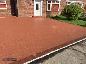 Resin Bound Driveway with Brick Border in Rye, Kent