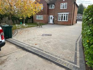 Block Paved Driveway, Patio and Pathway with New Lawn in Ashford, Kent